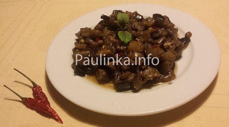 #Shanghai style #Eggplant / #Aubergine #recipe  - #Slovak cuisine - #Slovakia
