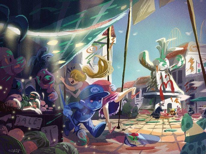 Framed by Nneka Myers - Super Mario Sunshine