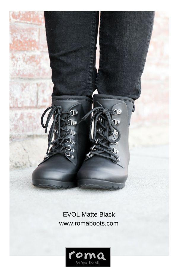 c6ea7d62ac1b EVOL Matte Black Women s Ankle Rain Boots in 2019