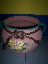 Resultado de imagen para jarrones pintados con acrilicos