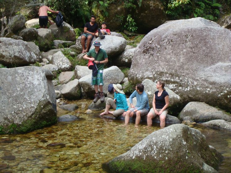 Cleopatra's Pool in Abel Tasman National Park - the perfect spot to relax and soak your feet