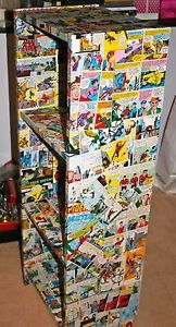 Decoupage Spiderman Bookcase
