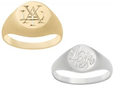 Ring Signet - CLASSIC MONOGRAMS - Sterling Silver or 9ct Gold