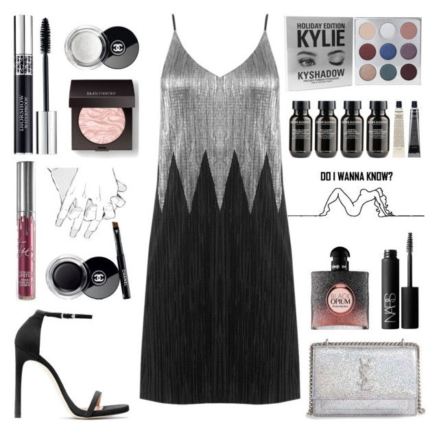 """DO I WANNA KNOW"" by apollinariya-664 ❤ liked on Polyvore featuring Stuart Weitzman, Yves Saint Laurent, Christian Dior, Chanel, Laura Mercier, NARS Cosmetics and Grown Alchemist"