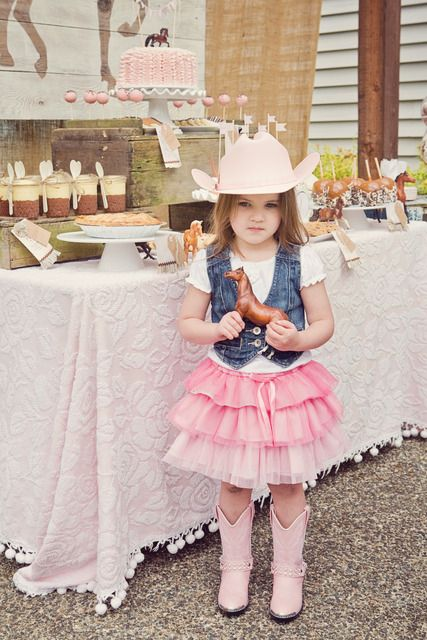 "Photo 22 of 36: Pink Brown Vintage Ponies / Birthday ""Vintage Pony Party"" 