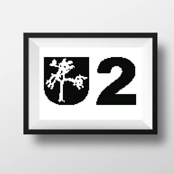 U2 irish rock band art Rock and roll embroidery cross stitch Modern pattern instant download Gift for him or her Simple x stitch wall art Check out this item in my Etsy shop https://www.etsy.com/listing/547769611/u2-irish-rock-band-art-rock-and-roll #u2 #u2wallart #u2embroidery #u2stitch #u2pattern #crossstitch #rockandroll