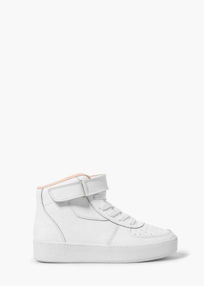 Kožené sportovní boty na zavazování   MANGO
