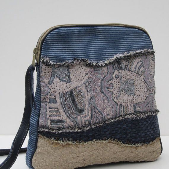 SHOULDER BAG Collage Art Just Passing Through by Bizmo on Etsy