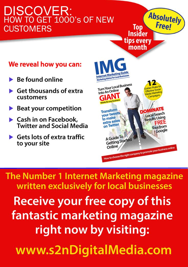 Marketing magazine to help business succeed online
