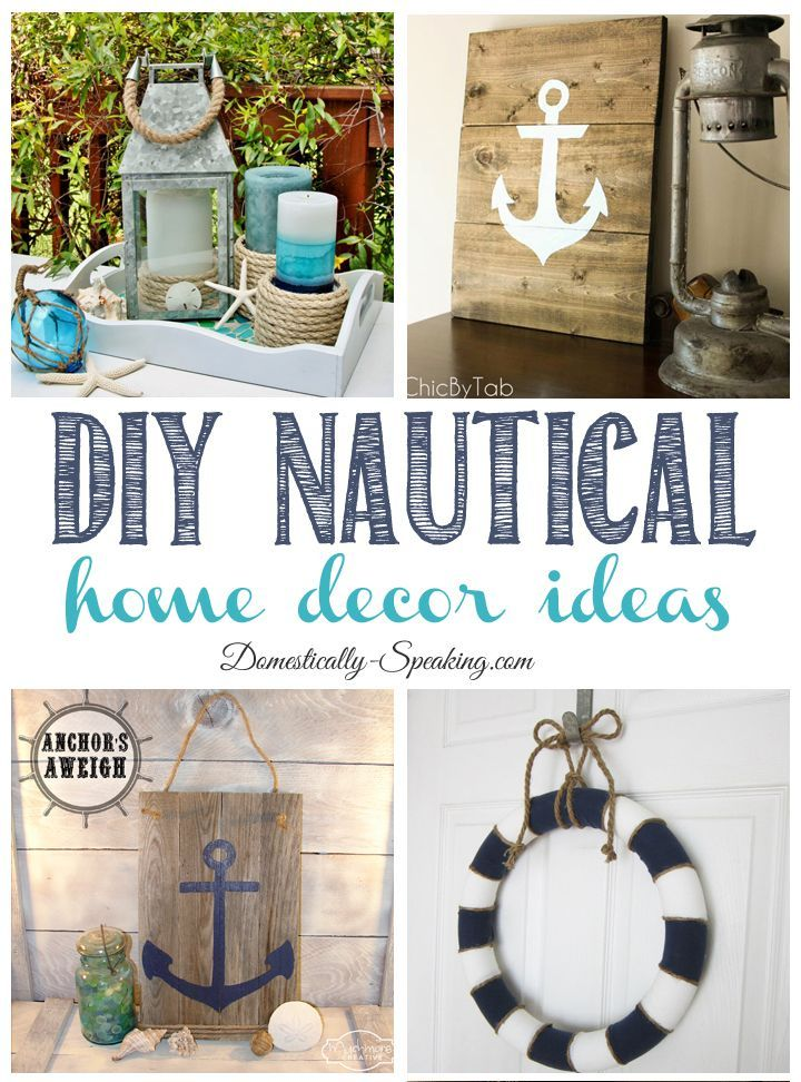 DIY Nautical Home Decor ideas... great projects you can do that adds some beach to your home. Great tutorials for these fun projects.