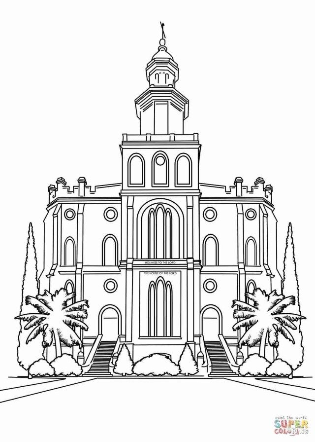 Wonderful Image Of Temple Coloring Page Lds Coloring Pages Utah