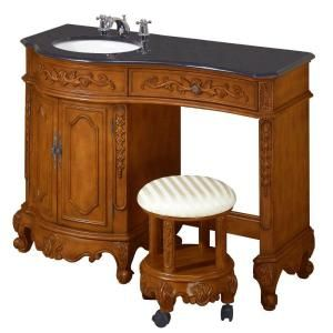 Home Decorators Collection Winslow 35 In H X 48 In W Vanity In Antique Oak With Black Granite