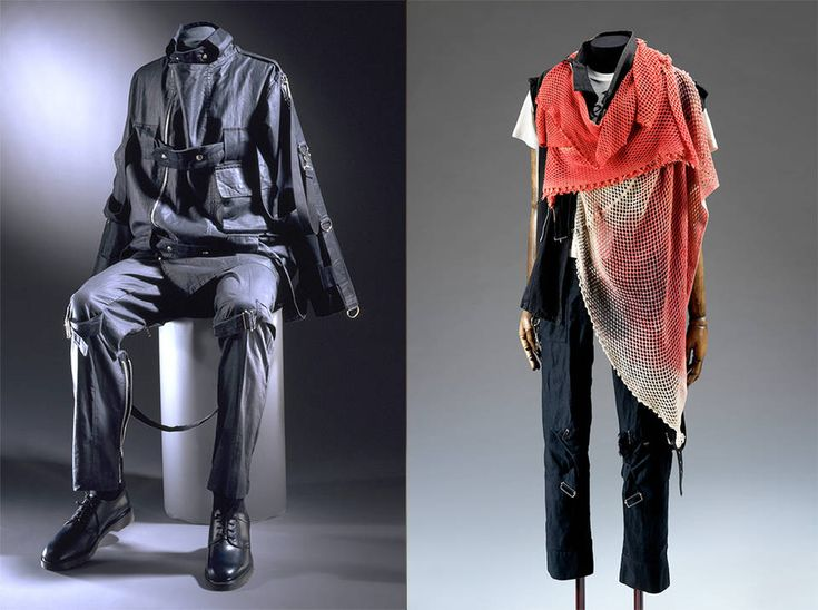 Victoria and Albert museum, 1976. Vivienne Westwood and Malcolm McLaren created the punk archetype, examples seen here with bondage suiting and distressed clothing.