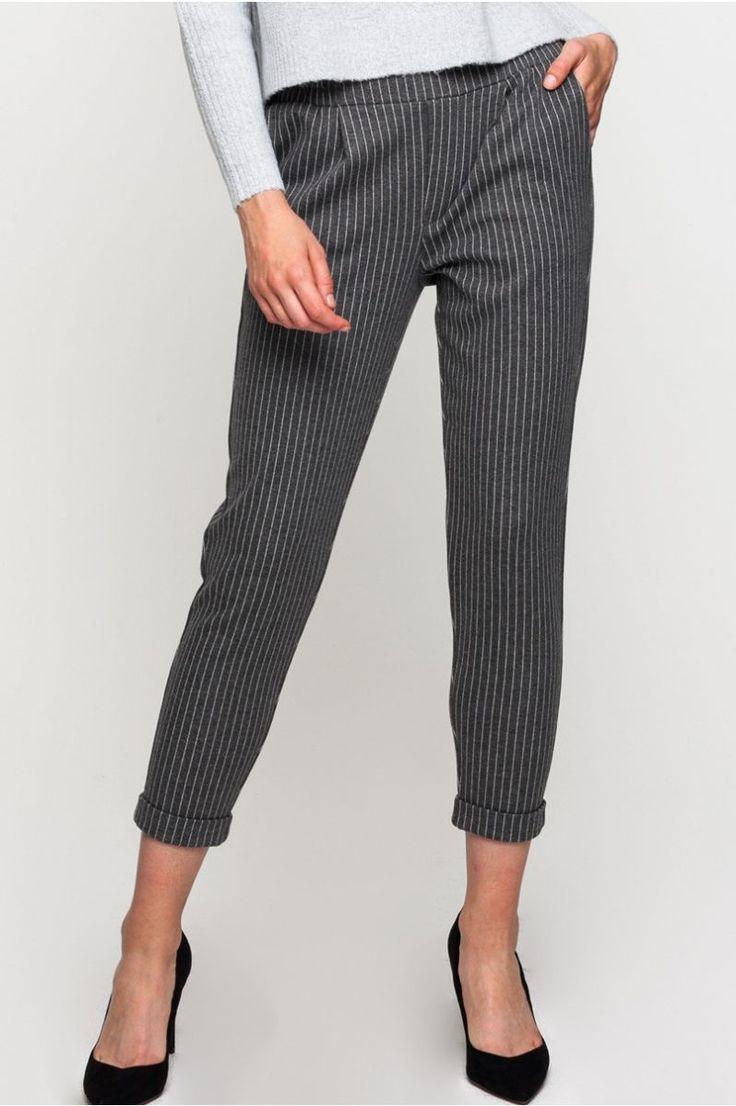 J2017  Striped Cigarette Trousers
