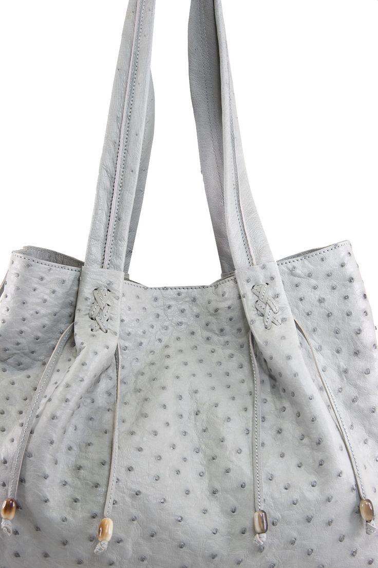 the Via La Moda genuine ostrich NTOMBI handbag with springbok horn beads  www.vialamoda.com