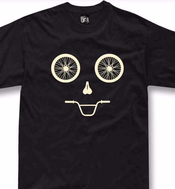 Funny bicycle T-Shirt mtb mountain bike gift bmx funny face cycling tshirt  #SOLS #BasicTee