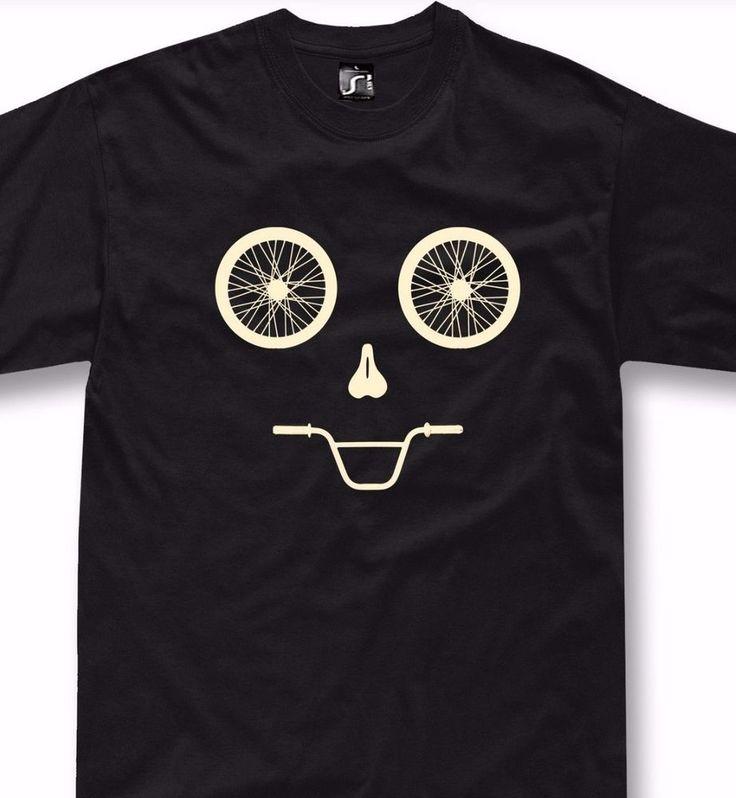 Funny bicycle T-Shirt mtb mountain bike gift bmx funny face cycling tshirt  #SOLS #BasicTee