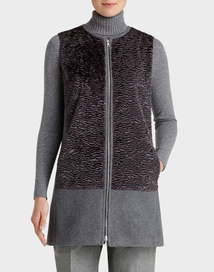 Tamer Vest with Faux Fur Combo | Lafayette 148 New York