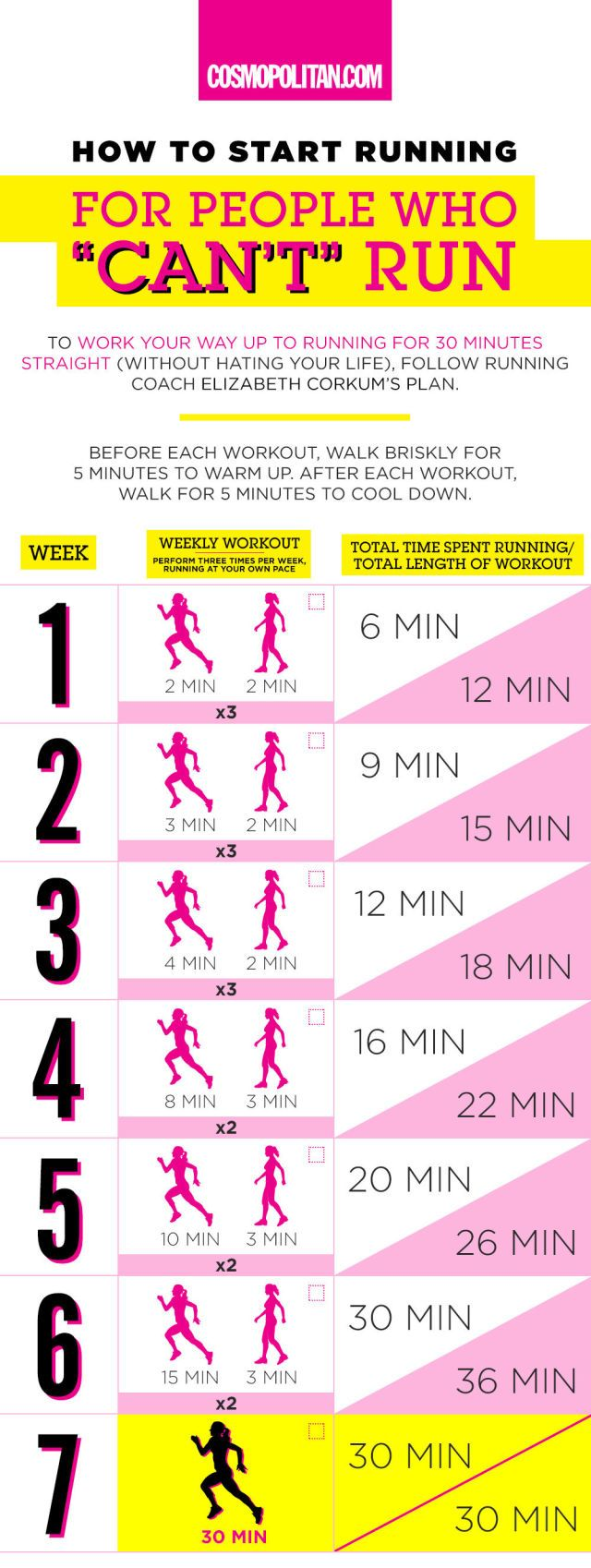 How to Become a Runner Even if You Think You Hate Running  - Cosmopolitan.com - I'm not sure this would work for me, but I'm pinning it just in case. Even if I did this, I wouldn't start until about April because it's far too cold outside now.