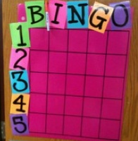 behavior bingo see a child doing something good they sign a square, at end of day roll no. & letter to see who wins