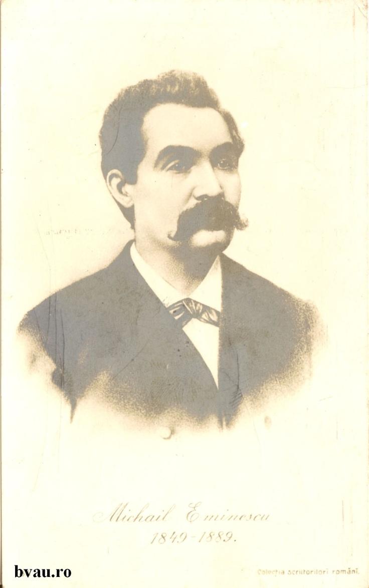 """Mihai Eminescu, anul 1911.  Imagine din colecţiile Bibliotecii Judeţene """"V.A. Urechia"""" Galaţi."""