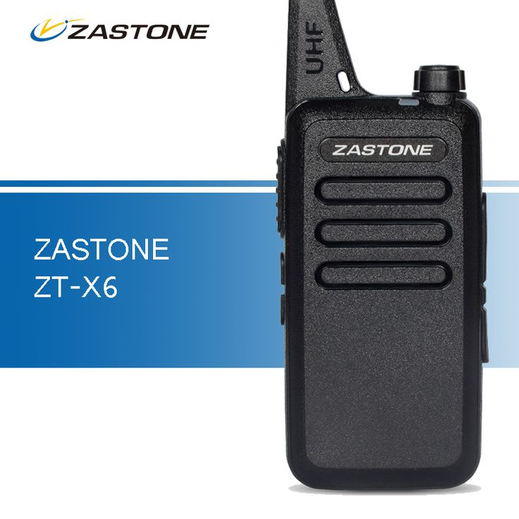 Zastone ZT-X6 Mini Walkie Talkie UHF 400-470MHz Portable Ham Radio Handheld Two Way CB Radio Transceiver Portable Walkie Talkies