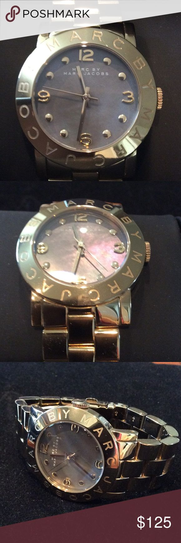 Marc Jacobs Gold Accent Watch Marc Jacobs Designer of fashion, this Fabulous Watch offers style and classy sass. Battery operated and functioning, additional links shown included. Marc By Marc Jacobs Accessories Watches