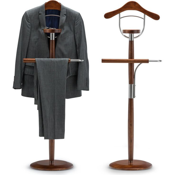 Timber Mens Clothing Valet Stand in Honey Oak 138cm | Buy Clothes Valets
