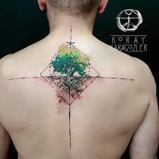 Image result for tatuaje en la espalda el arbol de la vida