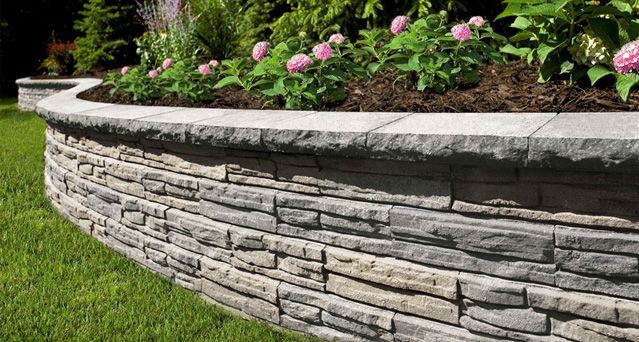 Retaining wall planter landscaping pinterest for Raised garden wall ideas
