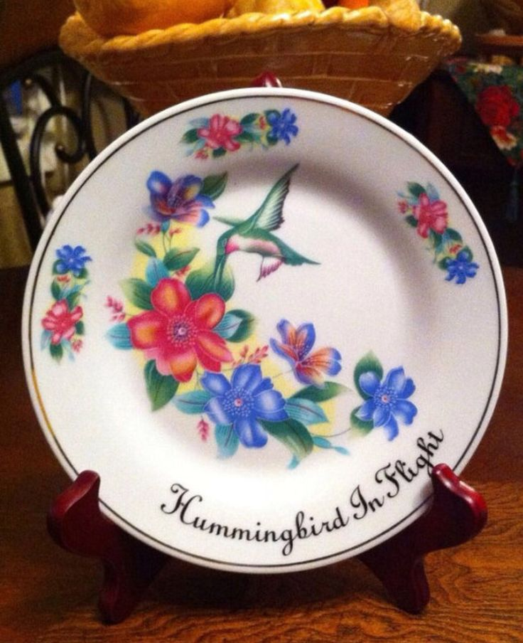 "Vintage Collectible Plate ""Hamming Bird In Flight"" Exclusively by Ashton Hall"