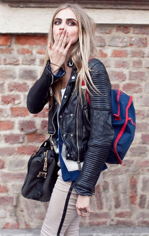 cara delevingne's leather jacket