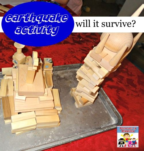 Your kids will love this earthquake activity as they test their buildings against earthquakes.