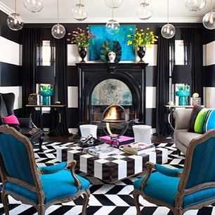 Inside Kourtney Kardashianu0027s House   An Entire Black Room With Bold Pop Of  Blue! Totally Makes A Stunning Room. May Not Be Everyoneu0027s Taste But It Is  Very ... Part 94