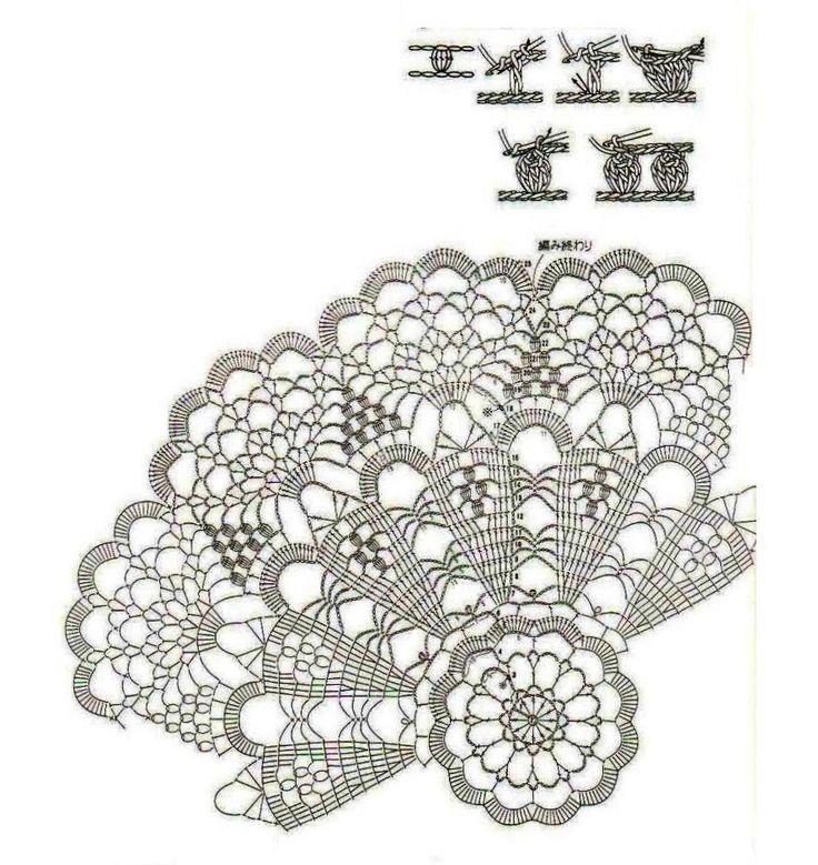 266 best hæklede duge images on Pinterest | Crochet patterns ...