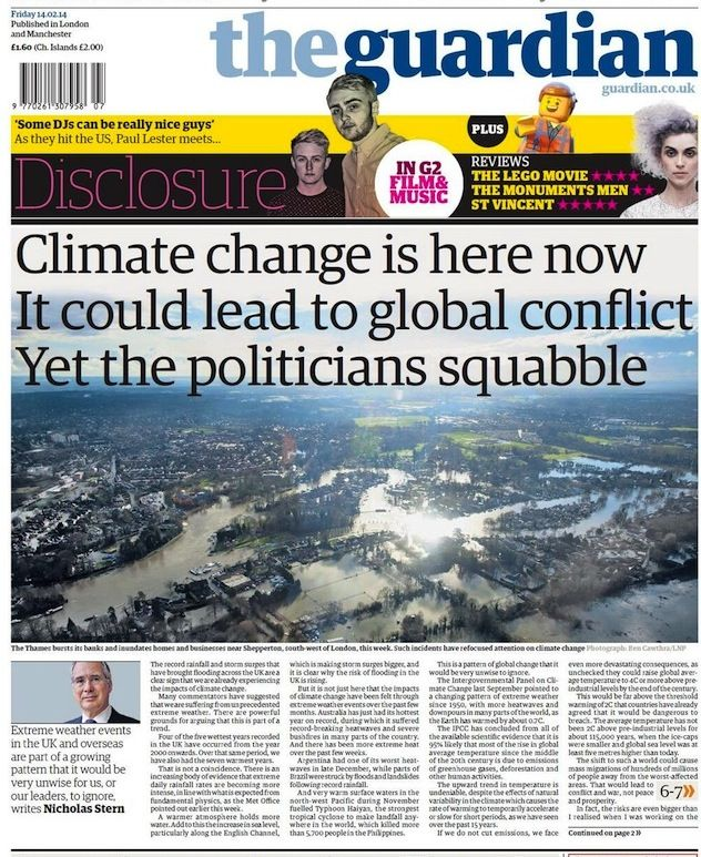 In Flooded UK, Guardian Warns 'Climate Change Is Here Now'