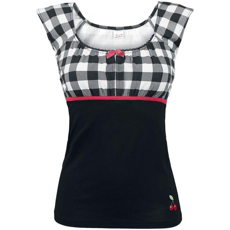 Pussy Deluxe T-skjorte -Evie Shirt Plaid- -- Kjøp nå hos EMP -- Mer Fritidsklær T-skjorter tilgjengelig online - Uslagbare priser!