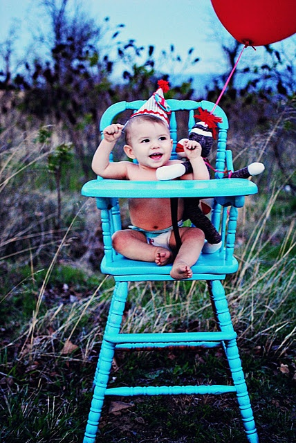 I want to find an old vintage highchair to paint for pics