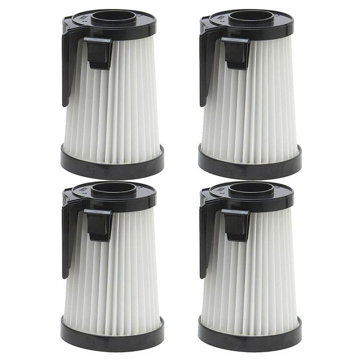 4 Pack Felji Washable HEPA Vacuum Filters for Eureka DCF-10, DCF-14, Part # 62396