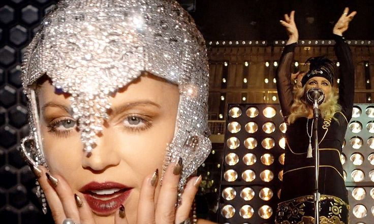 A roaring good time! Fergie turns flapper in glamorous 1920s outfits in new video for her song from the Great Gatsby soundtrack