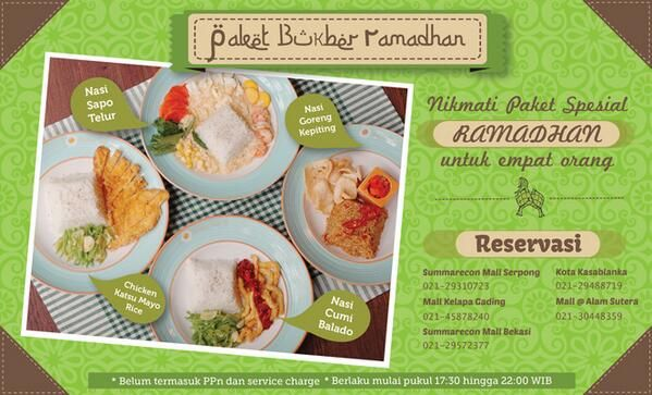 Sunny Side Up: Promo Paket Berbuka Ramadhan @SunnySideUp_ID