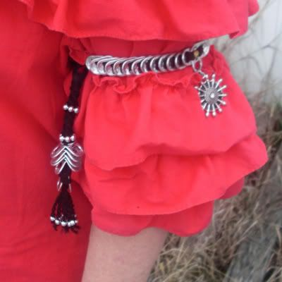 Tribal-style Tabistry Armband- Made with soda can tabs