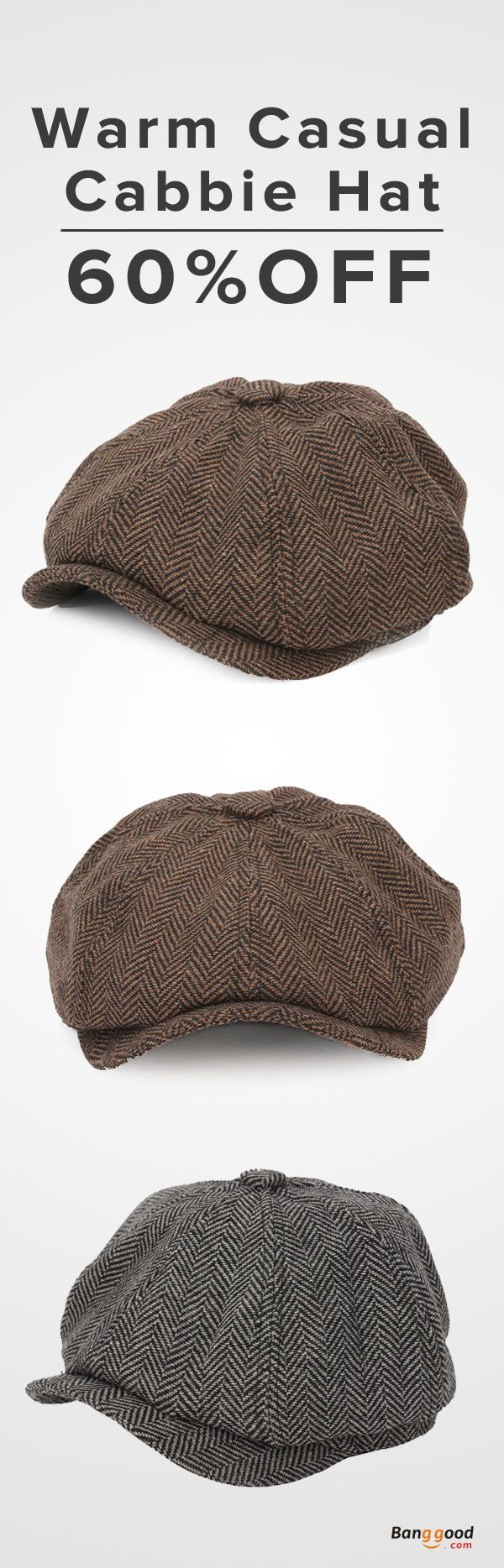 60%OFF! $11.59+Free shipping. Cabbie Hat, Newsboy Beret Cap, Outdoor, Casual, Winter, Visor, Woolen, Blending. Give you a warm and fashion winter, shop now~