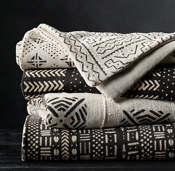 Handwoven African Mud Cloth Throw $149.