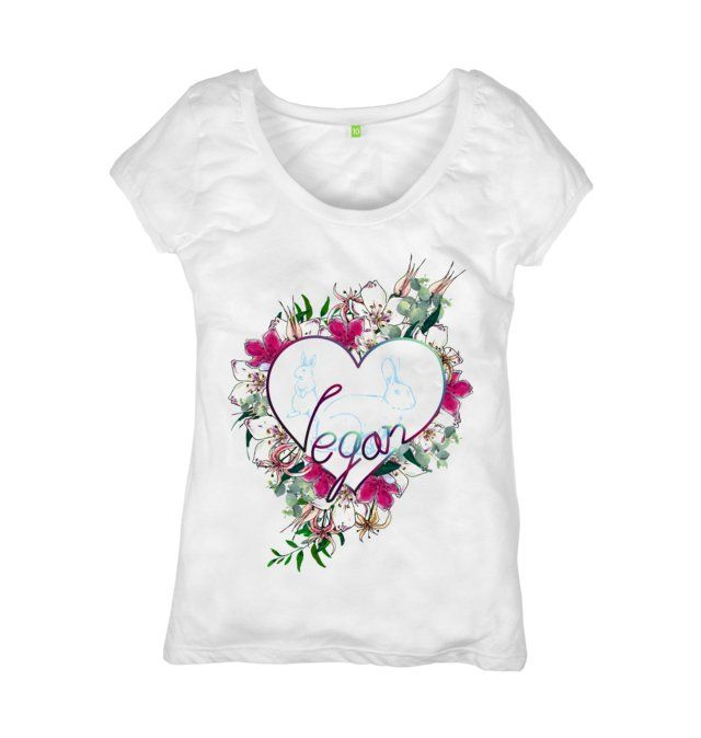 Vegan Love T-shirt Our clothing and mainly our designs are made to help you to dress with purpose! Showing and spreading your Vegan love without saying a word! #spreadtheveganmessage