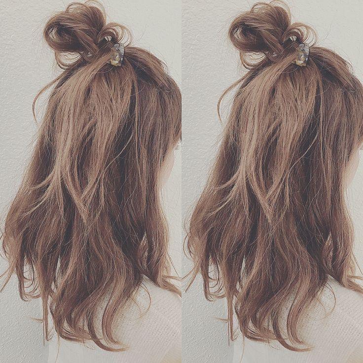簡単!かわいい!モテる!その髪形はハーフアップ|【HAIR】