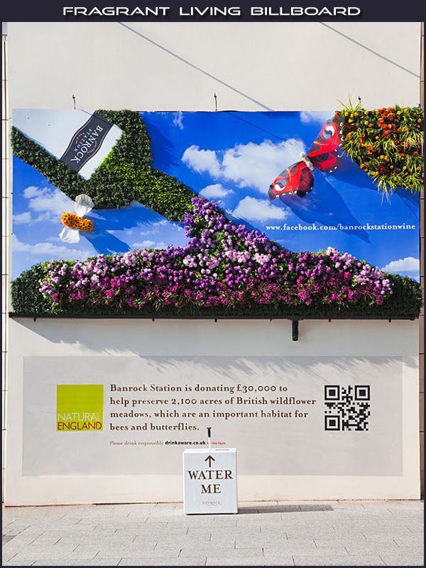 3D interactive billboard allows customers to see and touch the live flowers (not to mention water them).