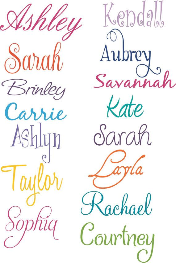 Girl Names PERSONALIZED Vinyl Wall Decal by ALastingExpression, $11.95