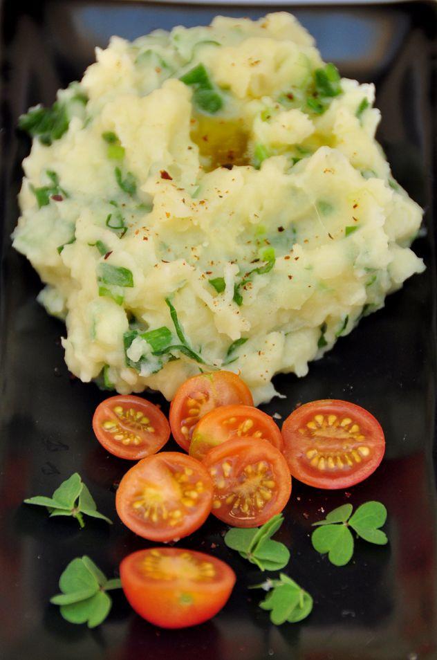 #Receta de #Champ, puré de papas irlandés en Espacio Culinario.
