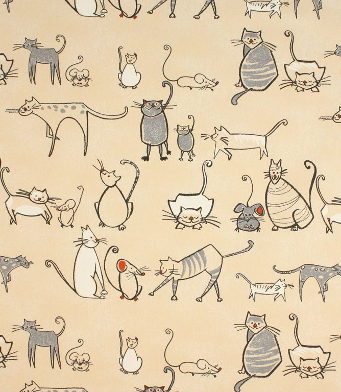 A fun contemporary fabric, Cat and Mouse fabric is made from 100% cotton. This fabric is suitable for blinds, curtains and cushions and has a matching pvc fabric available. Our online store and  fabric shops in Burford and Cheltenham have huge stocks of discounted designer curtain and upholstery fabrics.